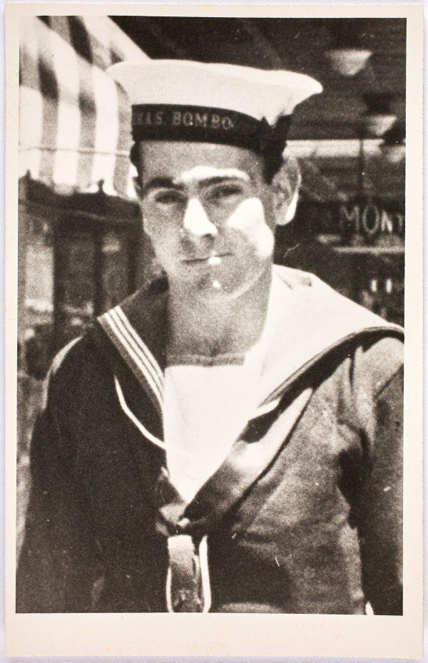 An image of Robert Klippel in naval uniform