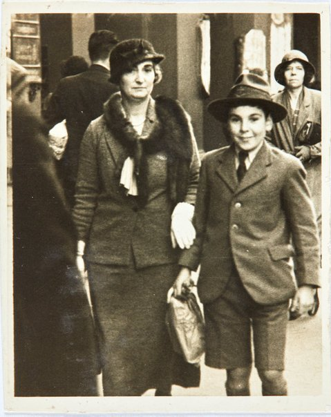 An image of Robert Klippel as a boy with his mother, Haide by Unknown
