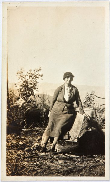 An image of Robert Klippel's mother, Haide, on Brown Mountain by Unknown