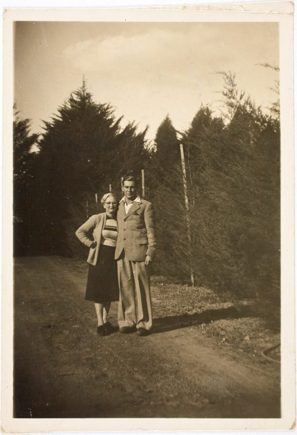 An image of Robert Klippel with his mother, Haide