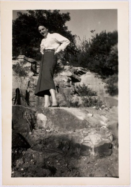 An image of Nina Mermey in the garden by Robert Klippel