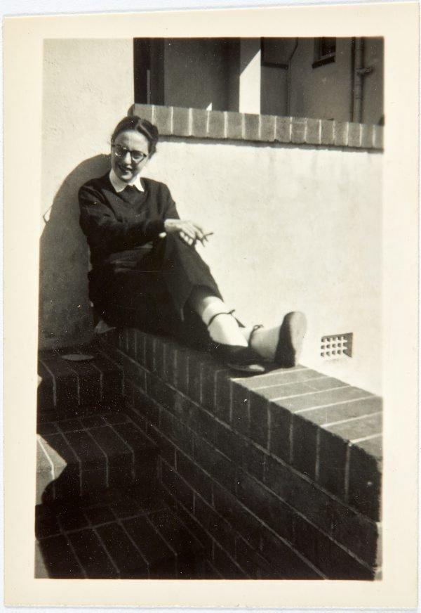 An image of Nina Mermey sitting in the sun