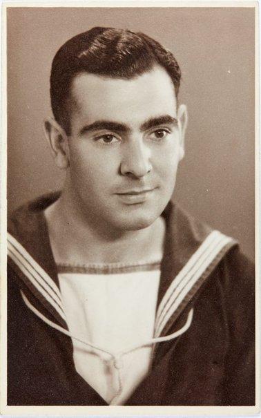 An image of Portrait of Robert Klippel in naval uniform by Nikolai Ross Studio