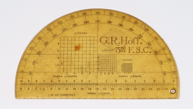 An image of Protractor used by Rayner Hoff