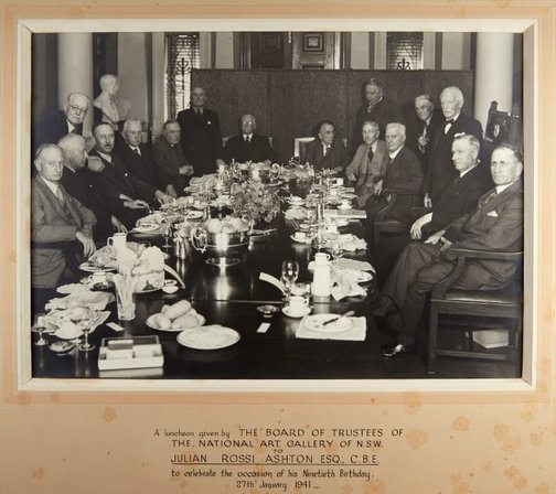 An image of Luncheon given by the Board of Trustees to celebrate the 90th birthday of Julian Rossi Ashton by Unknown