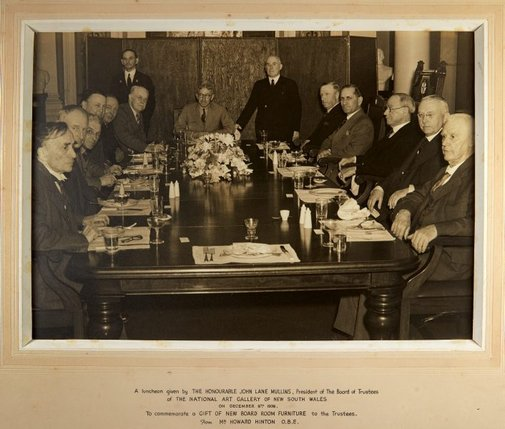 An image of Luncheon given by the Board of Trustees to commemorate a gift of new board room furniture from Howard Hinton by Unknown