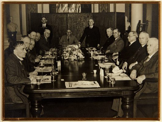 Alternate image of Luncheon given by the Board of Trustees to commemorate a gift of new board room furniture from Howard Hinton by Unknown