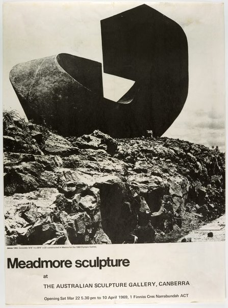 An image of Meadmore sculpture at the Australian Sculpture Gallery, Canberra by Unknown