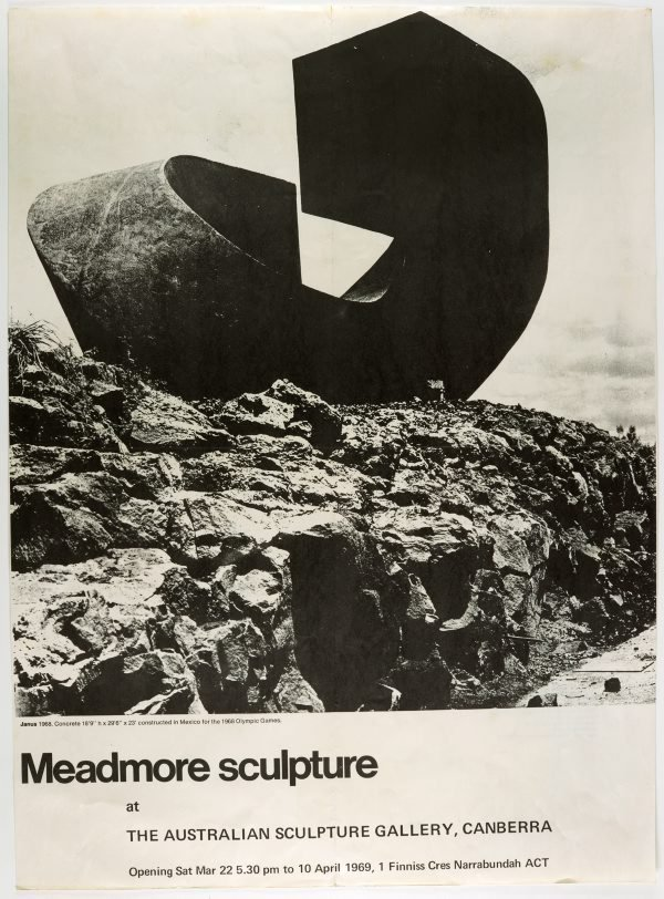 An image of Meadmore sculpture at the Australian Sculpture Gallery, Canberra