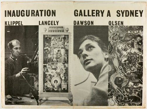 An image of Inaugural exhibition at Gallery A, Sydney by Unknown