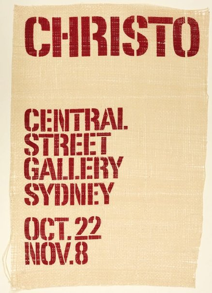 An image of Christo at Central Street Gallery, Sydney by Unknown