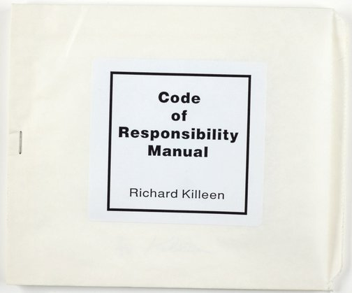 An image of Code of responsibility manual by Richard Killeen