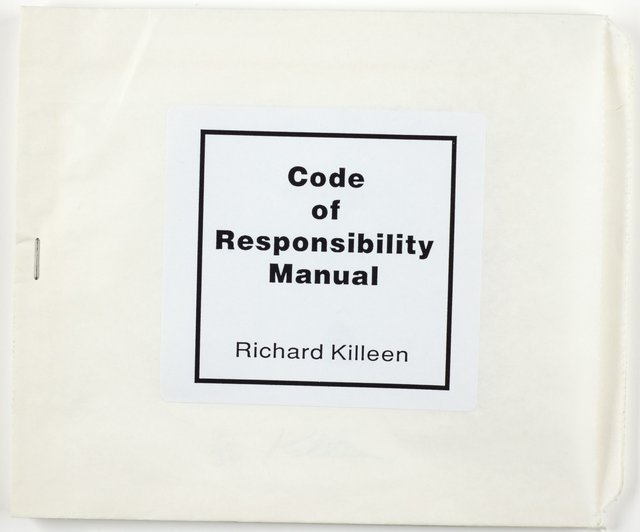 An image of Code of responsibility manual