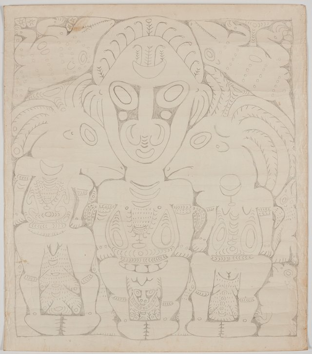 An image of Mopul and spirit figures