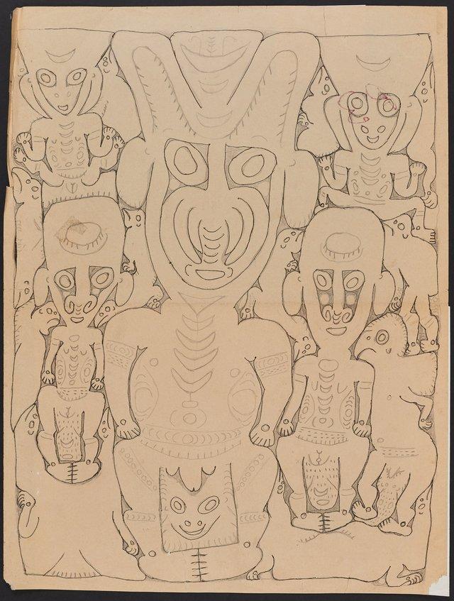 An image of Wain and his wives Sisili and Yiripi