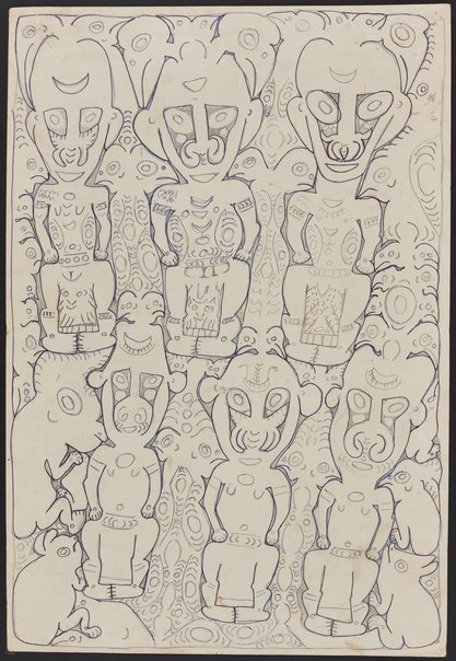 An image of Ancestor and spirit figures by Simon Nowep