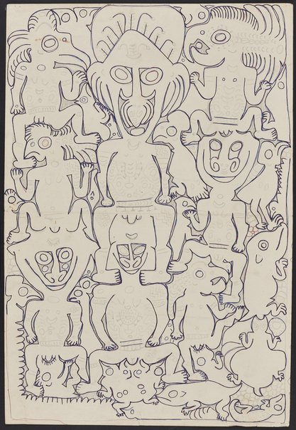 An image of Wain and his followers by Simon Nowep