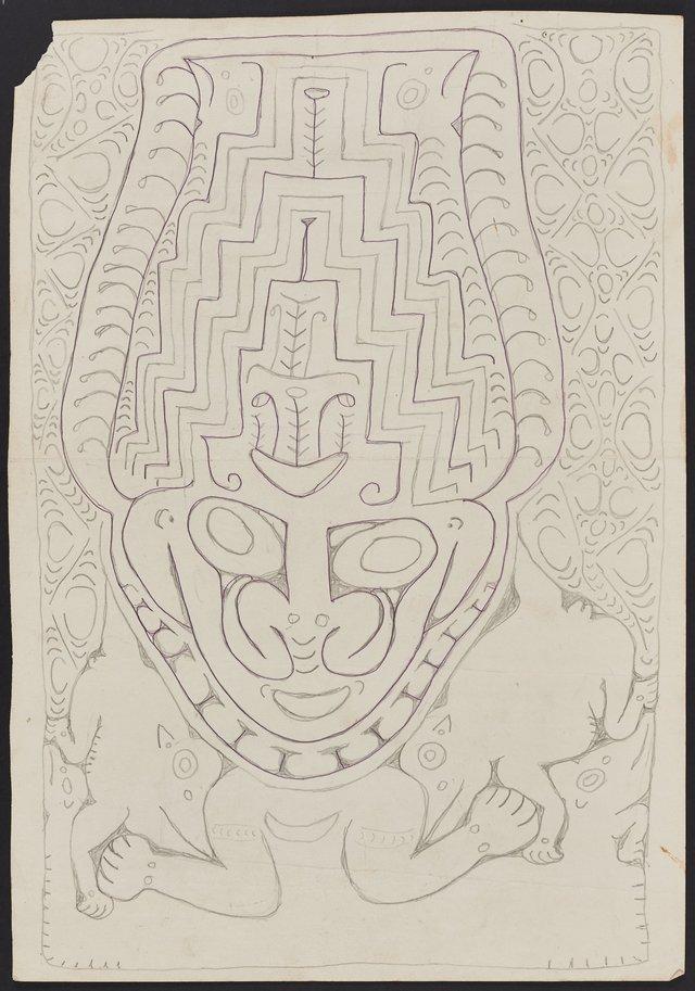 An image of Bowar, a spirit figure