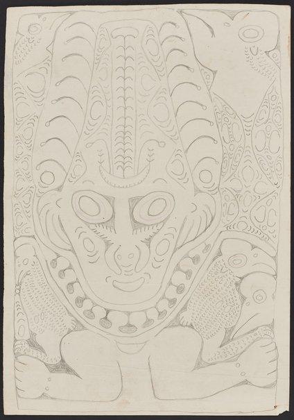 An image of Bowar, a spirit figure by Simon Nowep