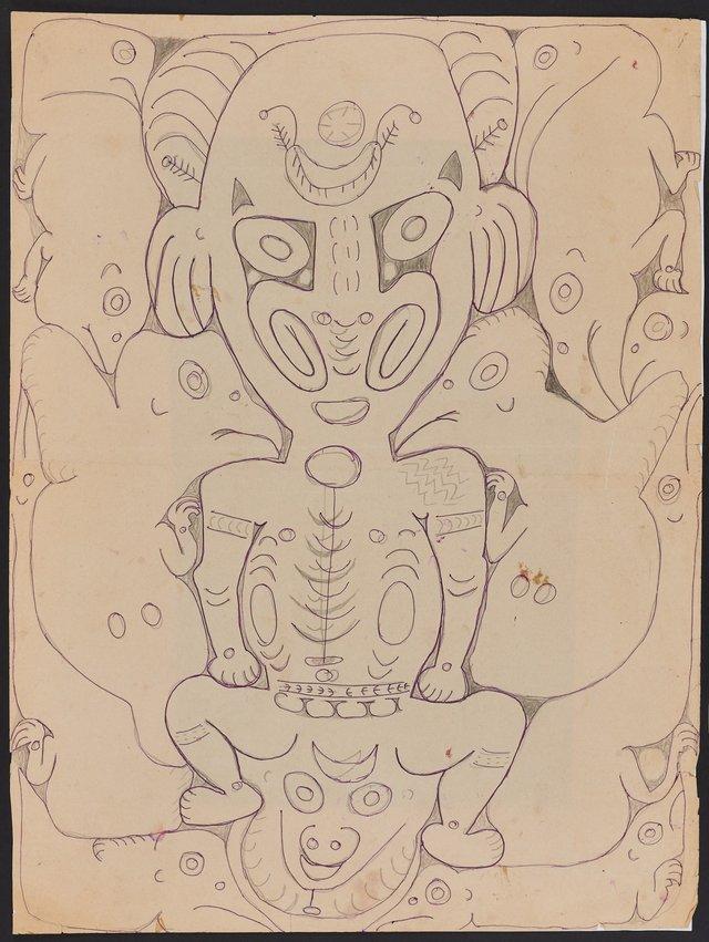 An image of Spirit figures