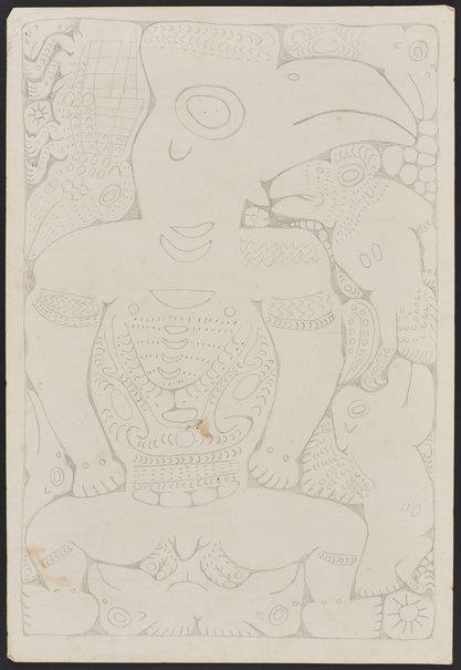 An image of Cassowary spirit figure by Simon Nowep