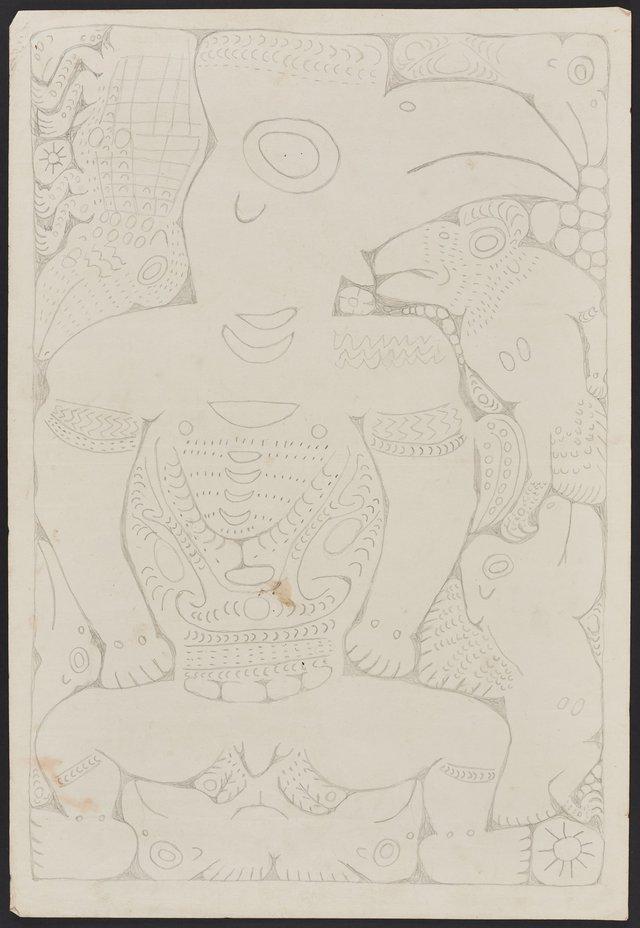 An image of Cassowary spirit figure