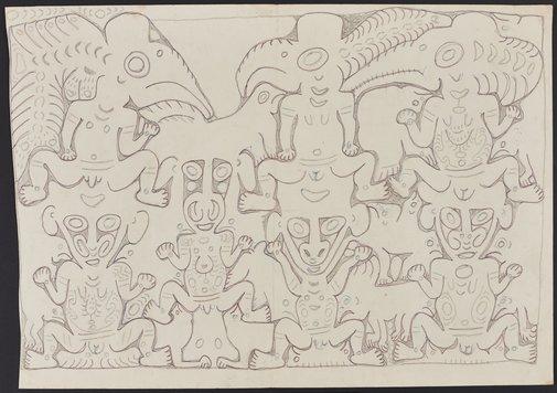 An image of Deman and konyim spirits by Simon Nowep