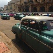 Image: Cars in front of Gran Teatro de Habana, Havana, Cuba. Photo courtesy Emma Glyde.