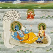 Image: unknown artist Vishnu and Laxmi resting on serpent god Sheshnag 19th century (detail). Art Gallery of New South Wales, bequest of Mr J Kitto 1986.