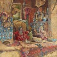 Image: Charles Robertson Bazaar gossip c1886 (detail), Art Gallery of New South Wales