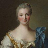Image: Jean-Marc Nattier Madame de La Porte 1754 (detail)