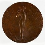 Image: Dora Ohlfsen The awakening of Australian art 1907, one of three bronze medallions, Art Gallery of New South Wales, purchased 1910