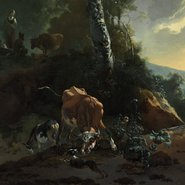Image: Adam Pynacker Landscape with enraged ox 1665-70, Art Gallery of New South Wales