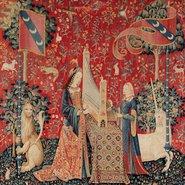 Image: Details of Hearing from the series The lady and the unicorn c1500. Musée de Cluny – Musée national du Moyen Âge, Paris. Photo © RMN-GP / Musée de Cluny – Musée national du Moyen Âge, Paris / M Urtado.