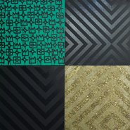 Image: Reko Rennie No sleep till Dreamtime 2014 (detail), birch plywood, metallic textile foil, synthetic polymer, diamond dust, gold leaf. Courtesy of the artist and Blackartprojects © Reko Rennie