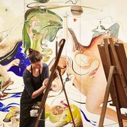 Image: Brett Whiteley Studio with Whiteley's Alchemy 1972-73 © Wendy Whiteley