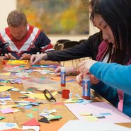 Image: Creating art in an access workshop at the Gallery