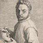 Image: Agostino Carracci Portrait of Giovanni Gabrielli, called 'Il Sivello' c1599 (detail)