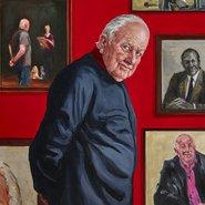 Image: Joanna Braithwaite Hall of fame – portrait of Pat Corrigan (detail), Archibald Prize 2018 finalist