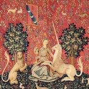 Image: Sight c1500 (detail) from the series The lady and the unicorn, Musée de Cluny – Musée national du Moyen Âge, Paris. Photo © RMN-GP / Musée de Cluny – Musée national du Moyen Âge / M Urtado