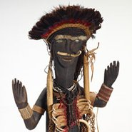 Image: Tairora people, Kainantu or Obura District, Eastern Highlands Province Decorated male figure mid 1900s (detail) © Tairora people, under the endorsement of Pacific Island Museums Association's (PIMA) Code of Ethics