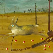 Image: Sidney Nolan Hare in trap 1946 (detail), Art Gallery of New South Wales © The Trustees of the Sidney Nolan Trust/Bridgeman Art Library