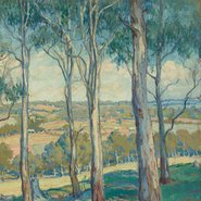 Image: Hilda Rix Nicholas Through the gum trees, Toongabbie c1920 (detail), Art Gallery of New South Wales © Estate of Hilda Rix Nicholas