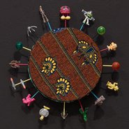 Image: Yinka Shonibare, MBE Alien toy painting (detail) 2011 © Yinka Shonibare, MBE