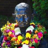 Image: Gandhi bust, Library Lawn, UNSW Australia