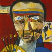 Image: Sidney Nolan Self portrait 1943 (detail) © the Trustees of the Sidney Nolan Trust. Bridgeman Art Library