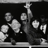 Image: David Moore Migrants arriving in Sydney 1966 (detail), gelatin silver photograph, 30.2 × 43.5 cm, gift of the artist 1997 © Lisa, Karen, Michael and Matthew Moore