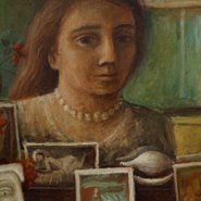 Image: Margaret Olley Portrait in the mirror 1948 (detail) © Estate of Margaret Olley
