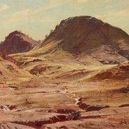Image: Hans Heysen The hill of the creeping shadow 1929 (detail) © C Heysen