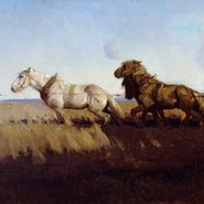 Image: George W Lambert Across the black soil plains 1899 (detail), Art Gallery of New South Wales